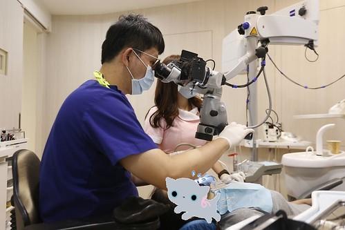 板橋絕美牙醫利用顯微鏡技術,讓我的缺牙不再露臉啦~ (13)