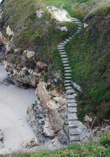Stairs to the Playa in Northern Spain