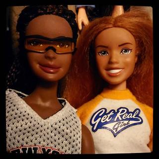 My doll #collection specialty is discontinued #dolls: #GetRealGirl were produced for limited time in 2000s, quality of their gear is astonishing. Nakia & Nini for #365days project, 156/365