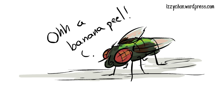 oh a banana peel insect
