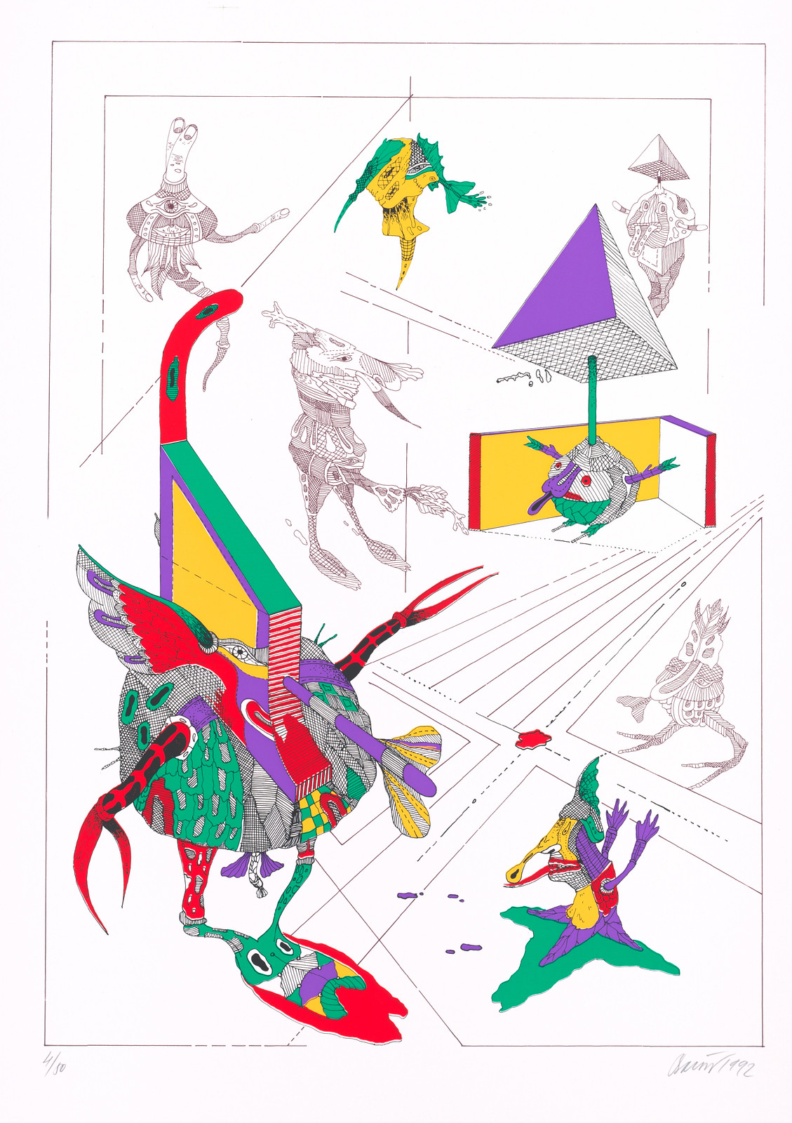 Karol Baron - Grotesque Paradox ( Triptych, left), 1990-1991