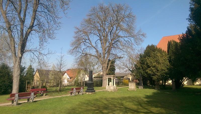 Im Park der evangelischen Kirche Selzen