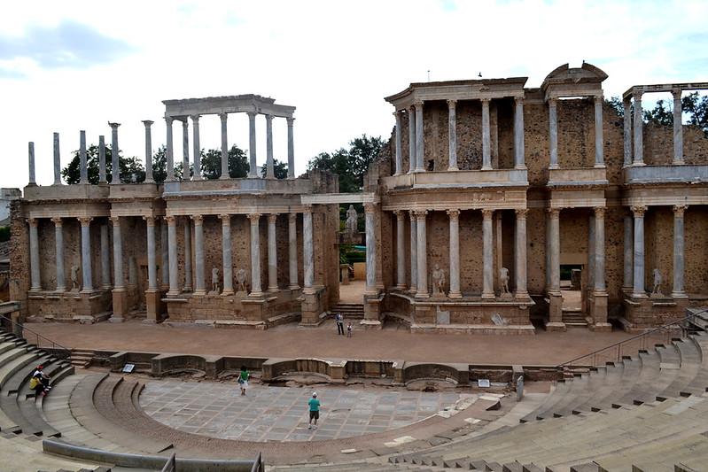 La escena del Teatro Romano de Mérida es de las mejor conservadas.