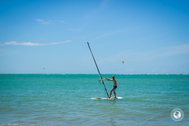Dan windsurfing
