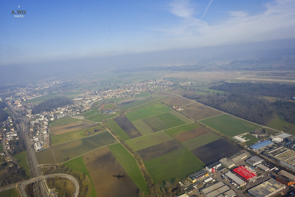 Take-off views of Oberglatt