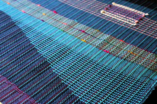 striped clasped weft