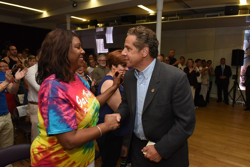 Governor Cuomo Makes an Announcement at LGBT Community Center