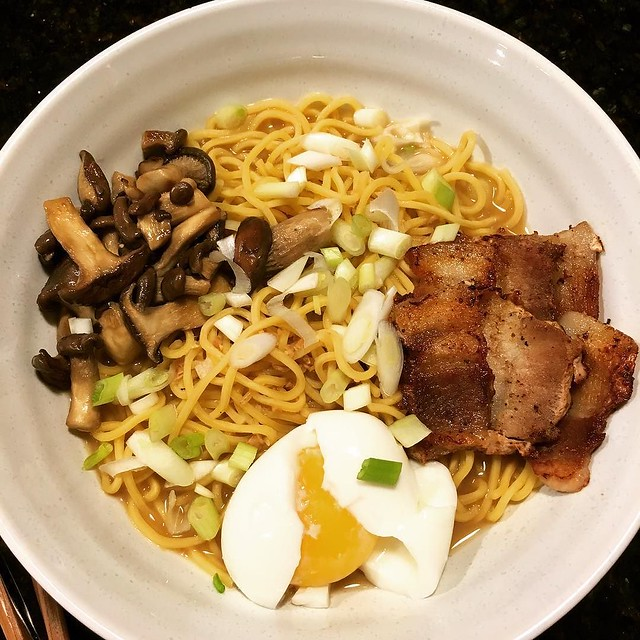 First try making homemade ramen last night. Needs tweaking but good. #ramen