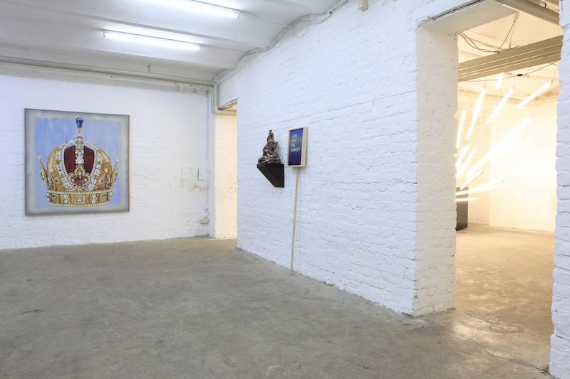 """Praise and Tropy_Sebastian Neeb_Lars Bjerre_Max Dickhaus_installation view"