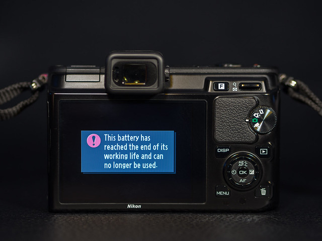 Nikon EN-EL15 battery at the end of life