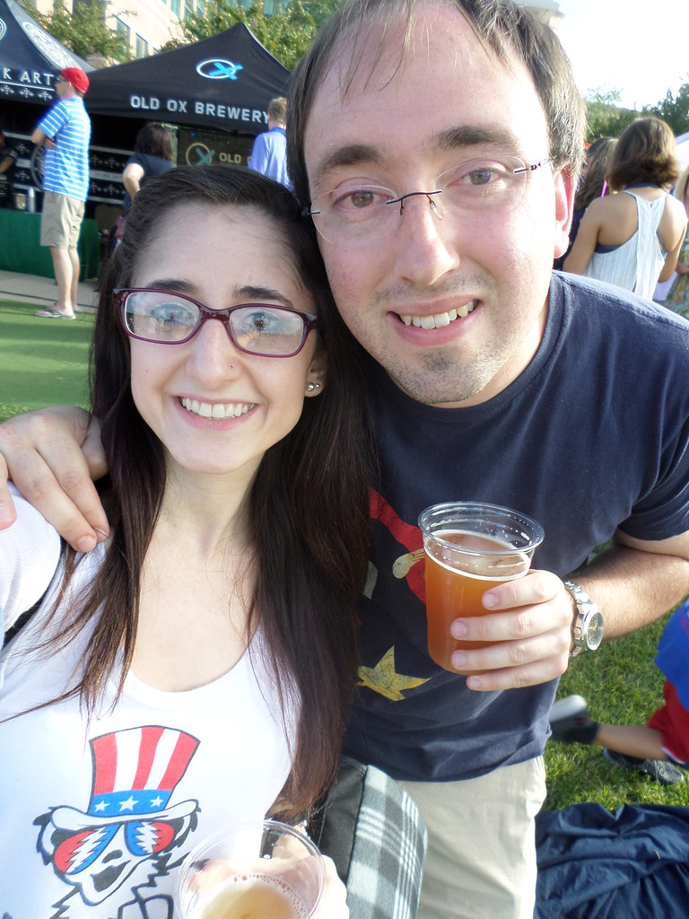 Enjoying local beers on the 4th of July at Lansdowne Celebrates America.
