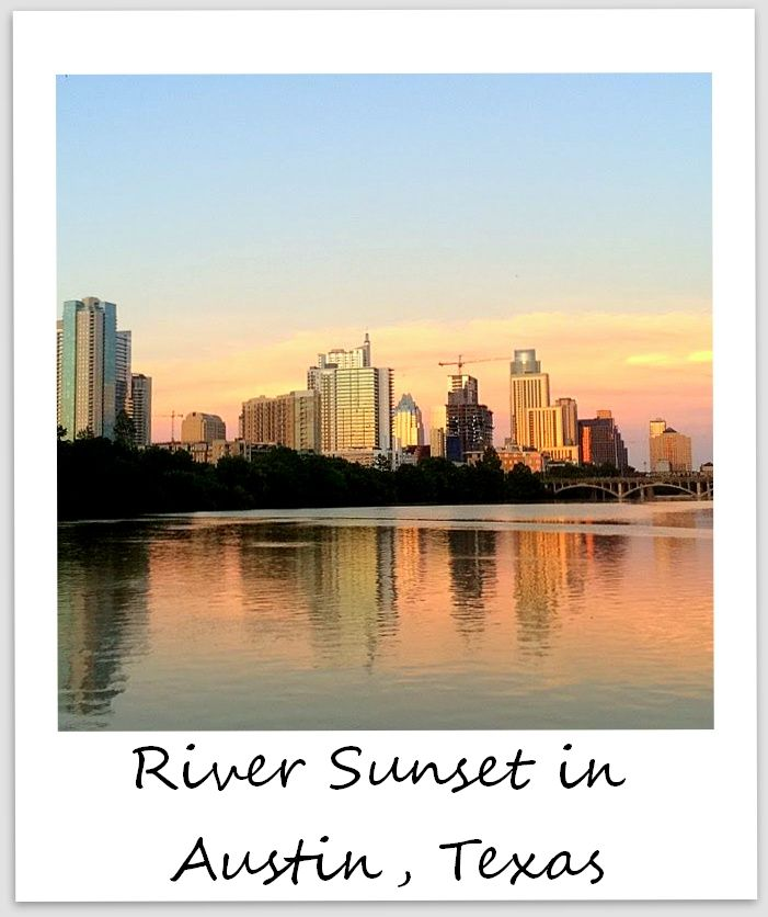 polaroid of the week usa texas austin sunset