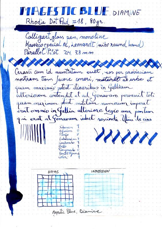 Diamine Magestic Blue-1