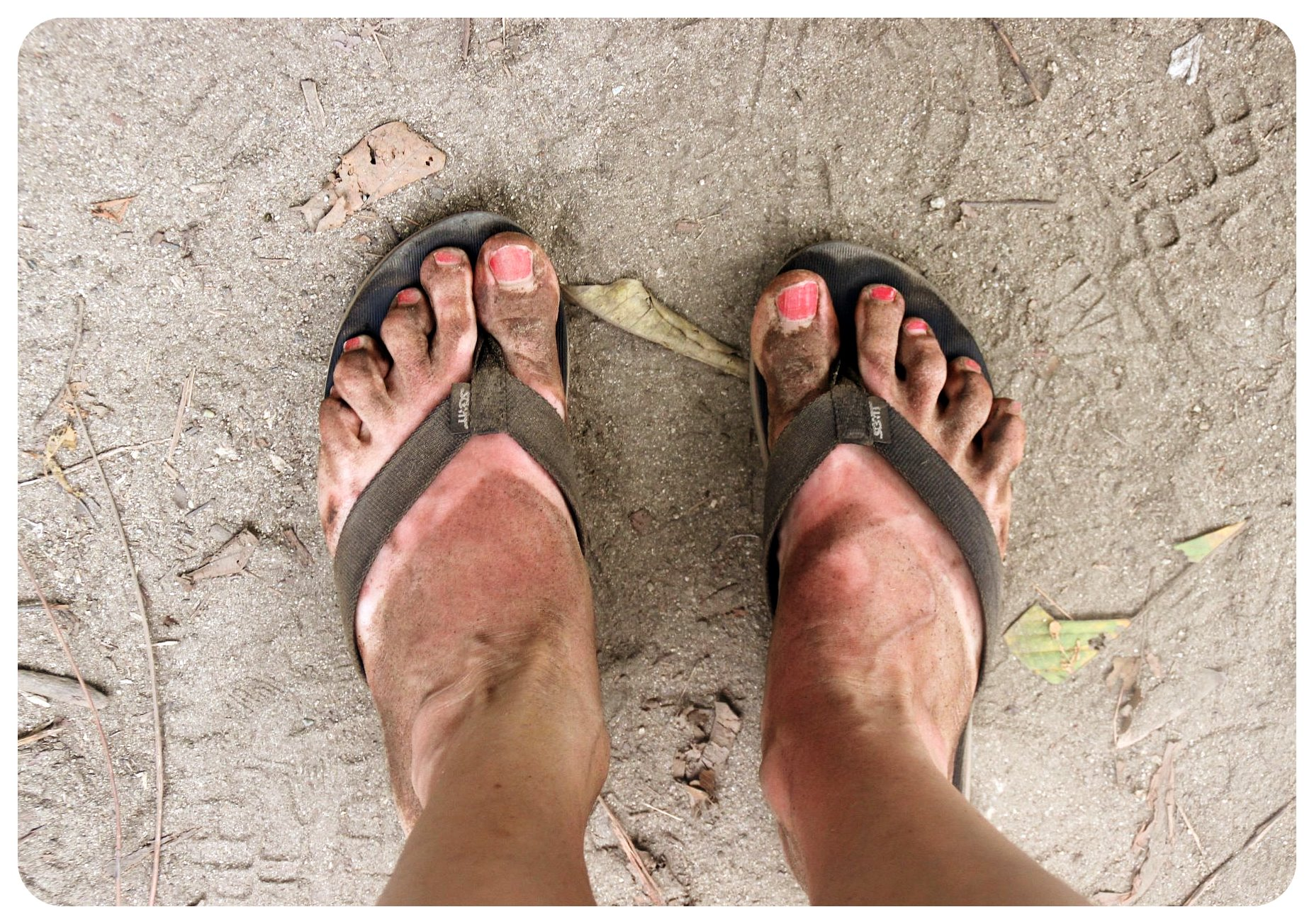 tayrona national park post hike feet