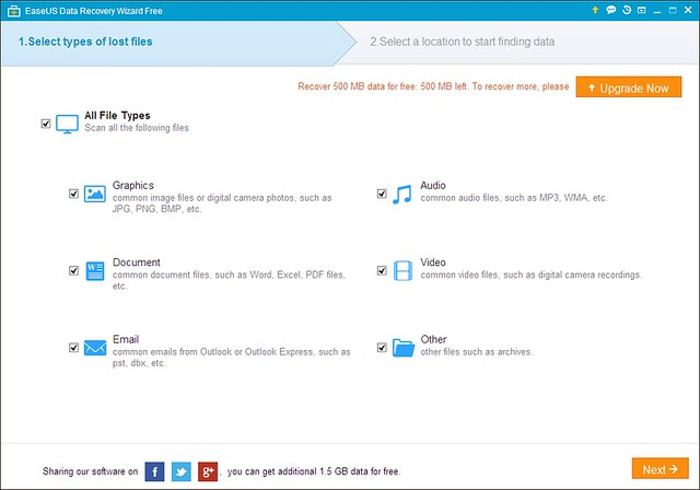 aseUS Data Recovery Wizard Free 1