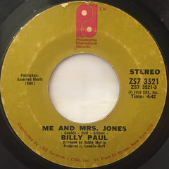 BILLY PAUL:ME AND MRS. JONES(LABEL SIDE-A)