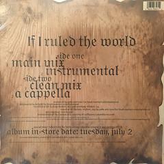 NAS:IF I RULED THE WORLD(JACKET B)