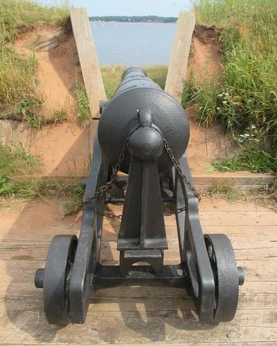 Aimed #pei #charlottetown #victoriapark #princeedwardbattery #latergram #cannon #charlottetownharbour