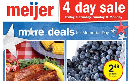 Meijer Four Day Sale May 27, 2016