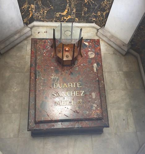 Grave of Duarte, Sanchez & Mella inside Altar de la Patria | Parque Independencia | Santo Domingo