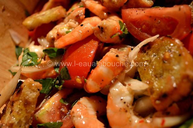 Salade de Crevettes et de Tomates au Basilic © Ana Luthi Tous droits réservés 012