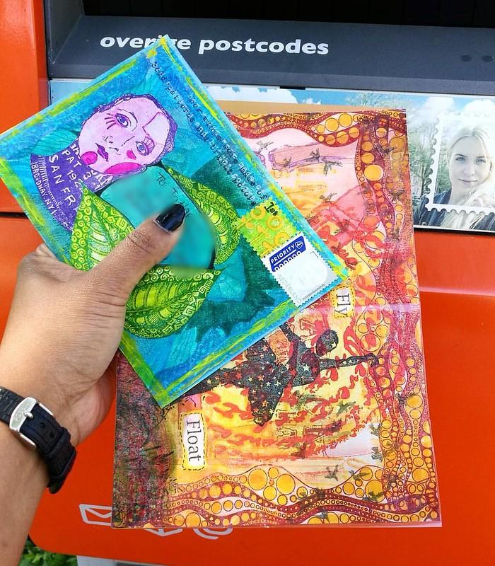 In the mail #mailout #snailmailrevival #snailmail #sent #swaps #swapbot #mailart #echtepost #echtepostiszoveelleuker #postbus #brievenbus #outbox #vivalasvegasstamps #VLVS #lostcoastdesigns #rubberstamps #mixedmediaartist #mixedmedia