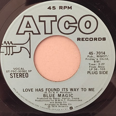 BLUE MAGIC:LOVE HAS FOUND IT'S WAY TO ME(LABEL SIDE-A)