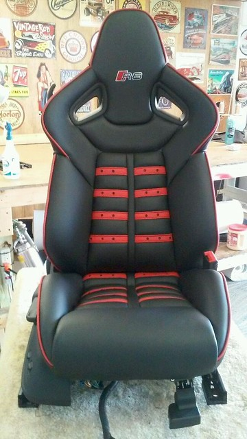 2011 full leather reupholster daytona seats. Black Bedroom Furniture Sets. Home Design Ideas