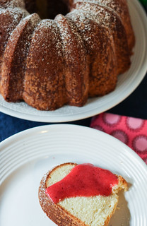 Cream Cheese Pound Cake w/ Strawberry Coulis | by niftyfoodie