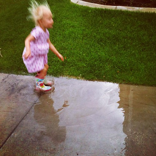 Storm has passed. Stomping in puddles. | by pinksuedeshoe