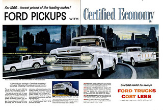 1960 Ford Pickups 2-page ad | by grayflannelsuit