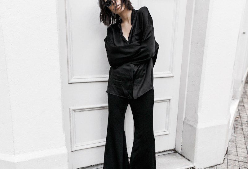 pyjama trend silk separates Ellery flares Haider Ackermann Givenchy Antigona Medium minimal all black ootd street style inspo fashion blogger modern legacy (7 of 8)