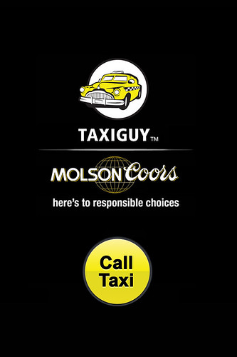 TAXI APP larger-button | by Molson Coors Canada