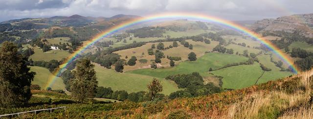Rainbow from Castle Dinas Bran 059 (1728)-Pano