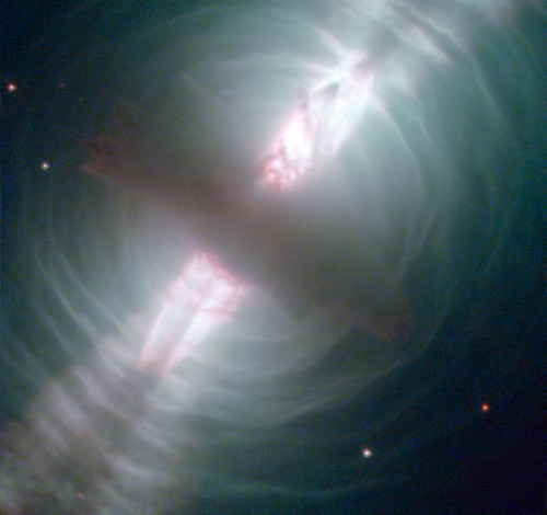 Hubble Images Searchlight Beams from a Preplanetary Nebula | by NASA Goddard Photo and Video