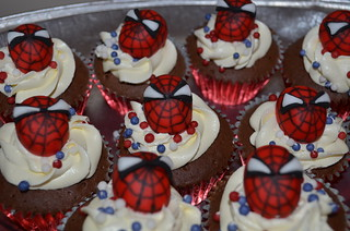 spiderman cupcakes | by nicolalabridgeter