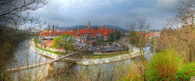 Fotos panoramicas Cesky Krumlov ciudad medieval Republica Checa