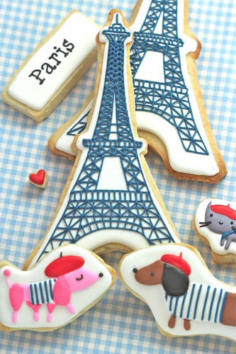 paris themed cookies | by the style files