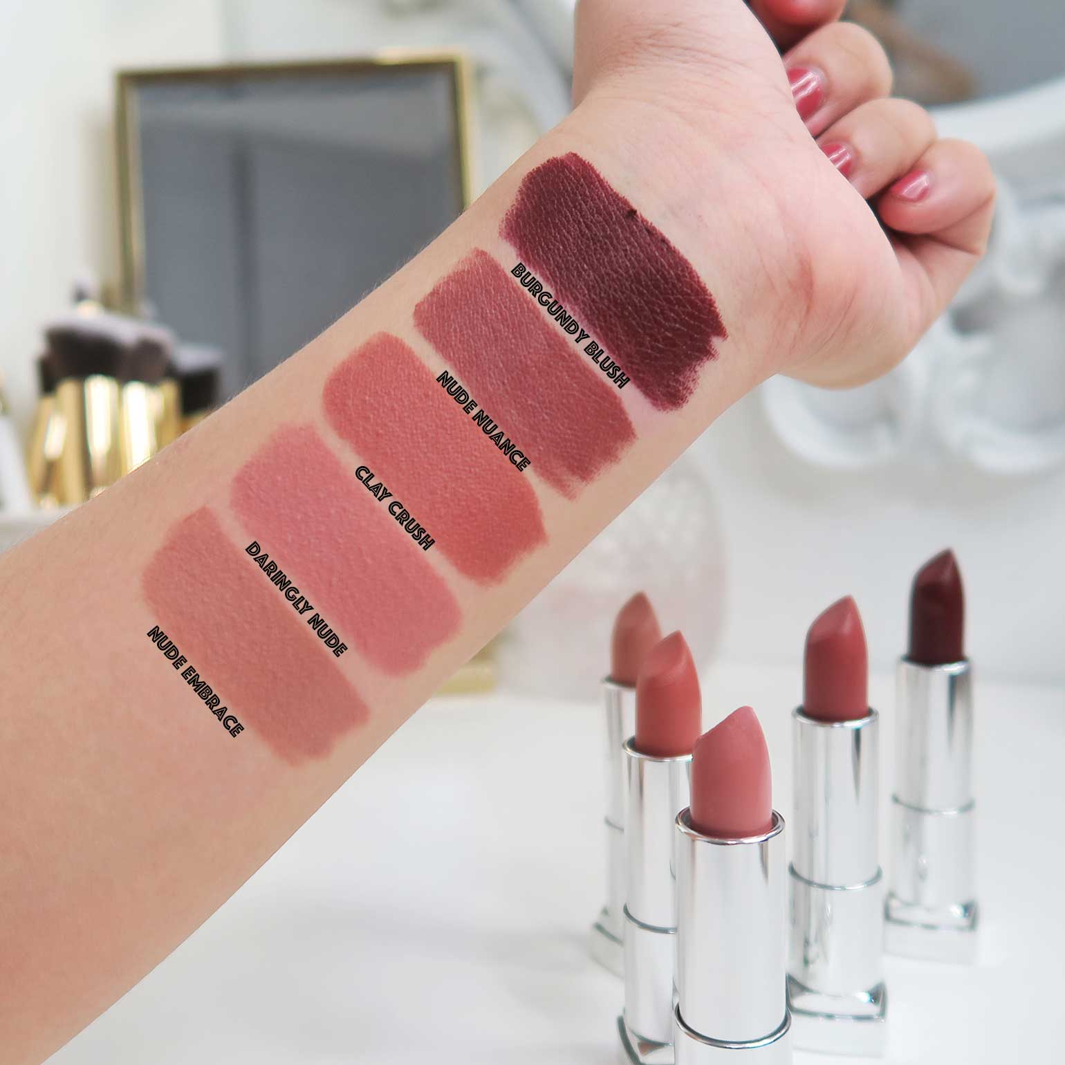 4 Maybelline Creamy Matte Brown Nudes Collection Review Swatches - Gen-zel.com(c)