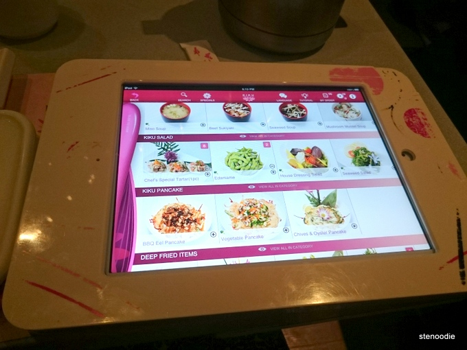 iPads at Sushi Kiku