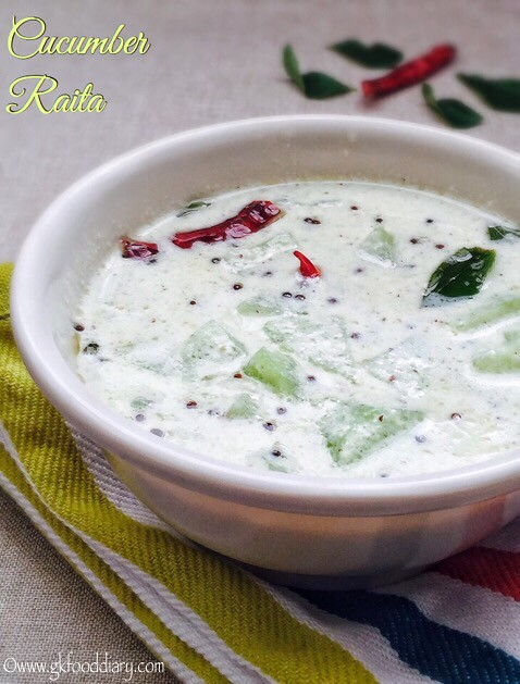 Cucumber Raita Recipe for Toddlers and Kids2