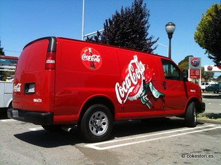 Coca-Cola Chevy Express flex fuel van in El Cerrito, California | by 可樂春秋