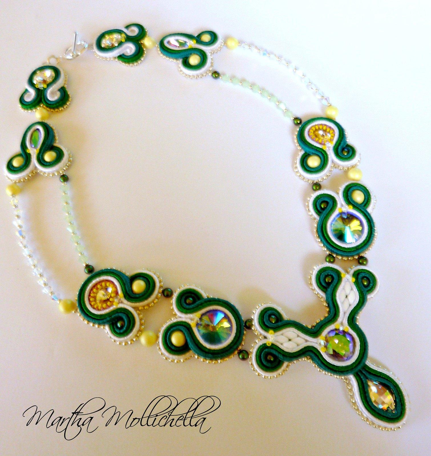 collana soutache swarovski e perle www.marthamollichella.com