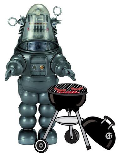 German Robot Grills Sausage