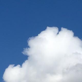 夏が来た 梅雨明けの翌日 典型的な夏の空