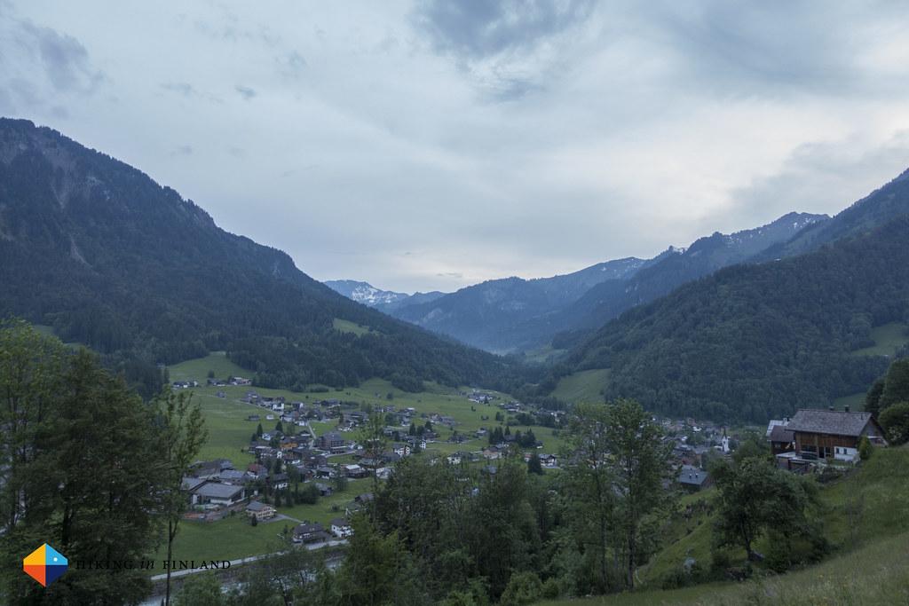 Evening hike above Mellau