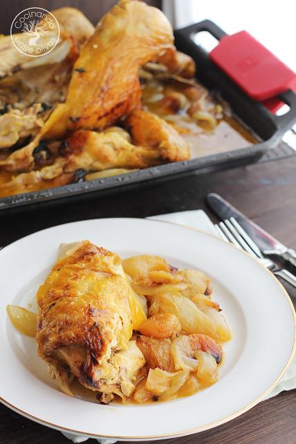 Pollo al horno con manzanas, cebolla, orejones e hidromiel (16)