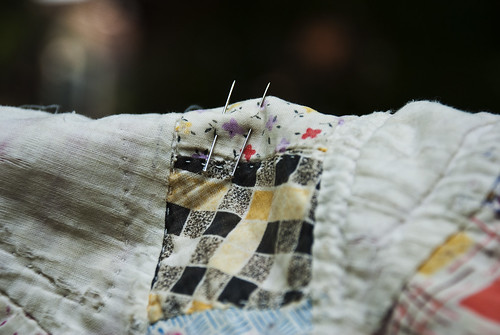 quilt on the clothesline with pins 1 | by karenchristine552