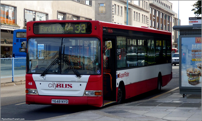 Plymouth Citybus 048 Y648NYD