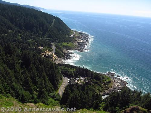 The view over Cape Perpetua, Oregon
